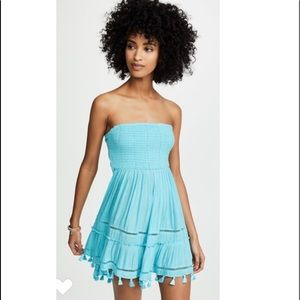 Ramy Brook Graciela Dress in Turquoise.